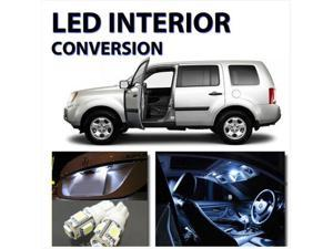 11pcs Bright WHITE LED Lights Interior Kit for Honda Pilot 2009-2012