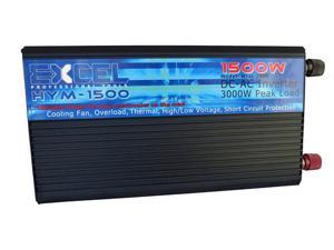 Excel 1500W 12 Volt DC to 120 Volt AC Power Inverter with 5-Volt USB Output 3000W Peak