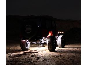 LED White Rock Lights for JEEP 4x4 Off Road Fender Lighting Aluminum (Pack of 4)