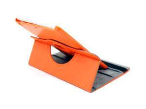 Rotating Folding Leather Folio Stand Protection Case Cover For Apple iPad Mini Tablet (ORANGE)
