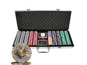 500 Ben Franklin CASINO TABLE POKER CHIPS SET