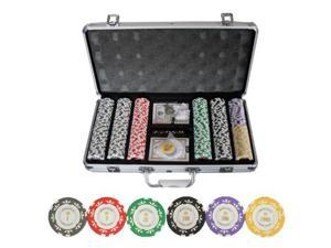 300pc Monte Carlo *Poker Room* Clay Poker Chip Set w/ Aluminum Case #10399#