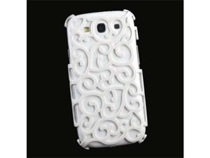 White Color Hollow Pattern PC Hard Case Back Cover for Samsung Galaxy SIII S3 i9300 #9817#
