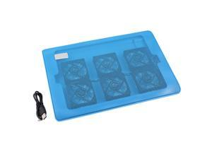 Portable Ultra-Slim 6 Fans Notebook Cooling Pad Cooler Mat For 15.4' Laptop