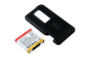 3500mah New Extended Battery For HTC EVO 3D w/ Black Hard Cover