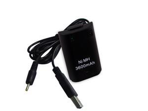 NEW 3600mAh Rechargeable Battery Pack Charger For XBOX 360 wireless controller