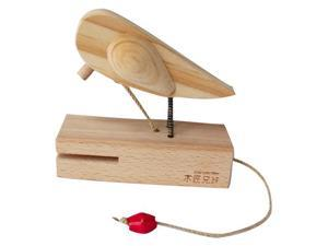 Woodpecker Door Bell - Cooing Bird (DIY) / Beech Wood, ONE in a Box / Paintable / Home Deco / Kid's Toy