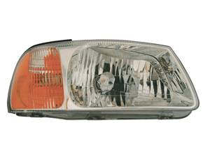 Hyundai 2000-2002 Accent Headlight Assembly Pair