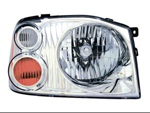 Nissan 2001-2004 Frontier Xe Headlight Assembly Aluminum Bezel Pair