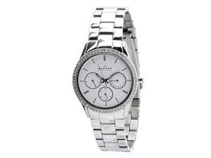 Skagen Women's 347LSX White Dial Chronograph With Swarovski Elements Watch