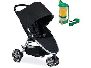 Britax 2017 B-Agile Stroller, Black With Non-Spill Cup and Snack Container #40;Colors May Vary #41;