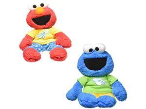 Gund Sesame Street Elmo & Cookie Monster Pajama Pal Plush Set