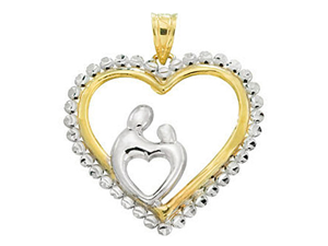 An Appealing Mother And Child Pendant