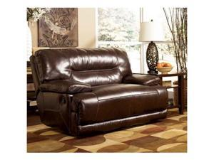 Exhilaration Chocolate Leather 0 Wall Recliner with Wide Seat  Power