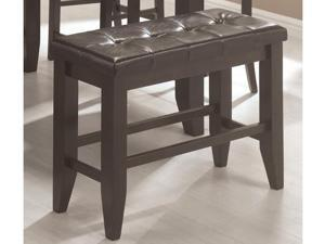 Page Contemporary Counter Height Bench with Padded Seat  by Coaster