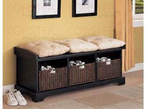 Black Storage Bench by Coaster Furniture