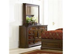 Foxhill Dresser and Mirror Set in Dark Oak Finish by Coaster
