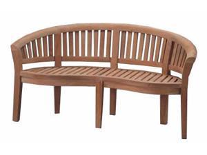 Curve 3 Seater Bench Extra Thick Wood By Anderson Teak