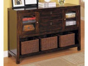 Home Office Console Table on Mahogany Finish By Coaster Furniture
