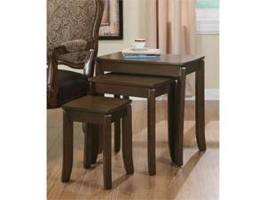 3 Piece Occasional Nesting Side Tables By Coaster Furniture