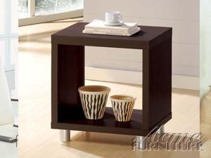 Modern Espresso Square End Table by Acme Furniture