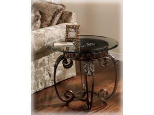 Tullio Round End Table by Ashley Furniture