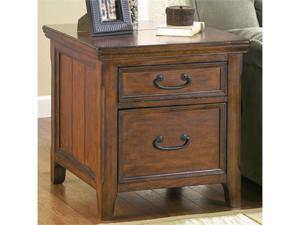 Woodboro Rectangular End Table w/Work Center by Ashley Furniture