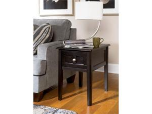 Henning Chairside End Table in Almost black Painted Finish