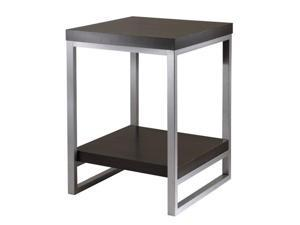 Jared End Table, Enamel Steel Tube In Black/Metal By Winsome