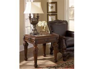 North Shore Square End Table in Dark Brown Finish
