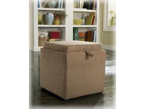 Cubit - Mocha Ottoman w/ Flip Top - 1 Cube inside by Ashley Furniture