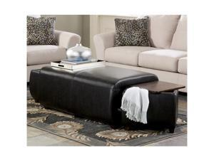 Ashley Furniture Accara Upholstered Ottoman w/ Cube Storage T877-20