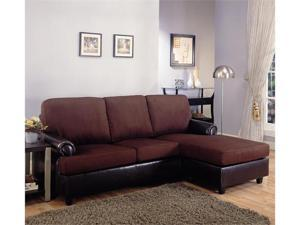 SECTIONAL, DARK BROWN/F 85''Lx61''Wx36''H