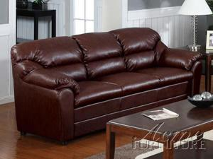 Modern Brown Bonded Leather Match Sofa by Acme Furniture