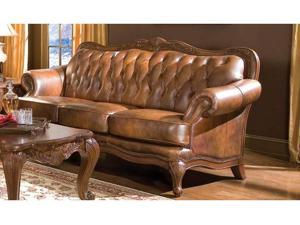 Victoria Leather Sofa by Coaster Furniture