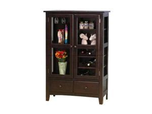Rich Cappuccino Curio/China Cabinet by Coaster Furniture