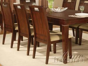Donavan Walnut Finish Side Chairs