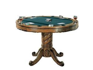 Three In one Chestnut Poker / Bumper Pool / Dining Table by Coaster Furniture