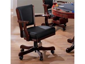 Cherry Finish Arm Chair by Coaster Furniture