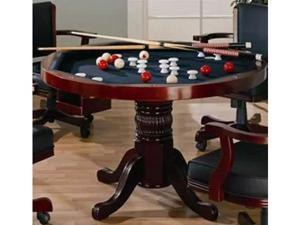 Cherry Finish Game Table by Coaster Furniture