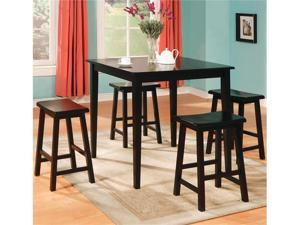 5PC DINING SET F/BLACK