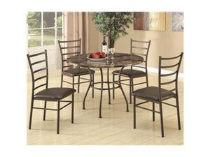 Dinettes 5 Piece Dining Set w/ Round Table and 4 Side Chairs  by Coaster