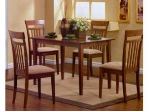 Walnut Finish Dining Set by Coaster Furniture