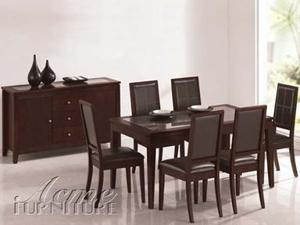 Albury Solid Wood Contemporary Dining Table by Acme Furniture