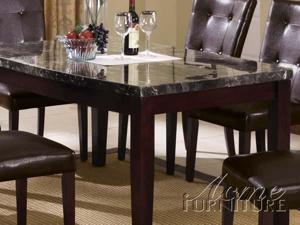 Black Marble Top Dining Table by Acme