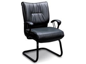 Black Sleek Guest Home Office Chair by Coaster Furniture