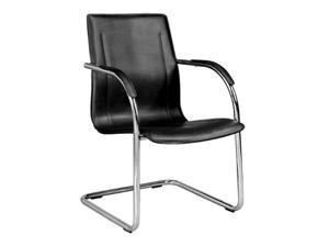 Flash Furniture Black Vinyl Side Chair with Chrome Sled Base [BT-509-BK-GG] - OEM