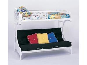 C Style White Twin Over Full Futon Bunk Bed by Coaster Furniture