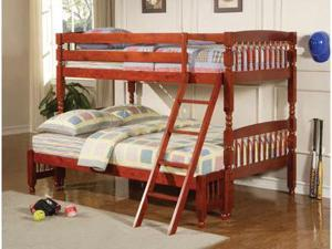 Twin Over Full Bunk Bed In Rich Cherryby Coaster Furniture