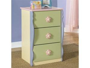 Doll House Youth Loft Drawer Chest in Multi-Colored Finish